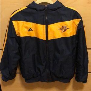 Rare Throwback Reversible Warriors Jacket